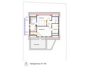Komplettsanierung eines Wohnhauses in Ludwigsburg, Grundriss DG
