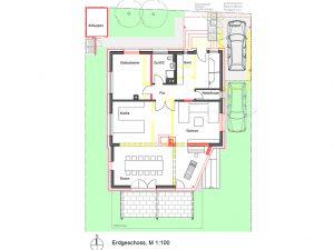 Komplettsanierung eines Wohnhauses in Ludwigsburg, Grundriss EG